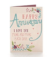 Crafted Floral Anniversary Card