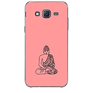 Skin4gadgets Lord Gautum Buddha-Line Sktech on English Pastel Color-Peach Phone Skin for SAMSUNG GALAXY J7