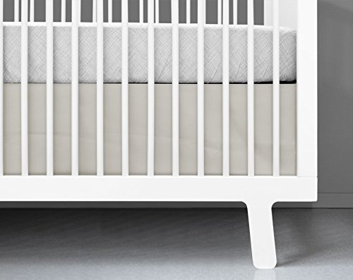 Olli & Lime Stone Crib Skirt, Beige front-224342