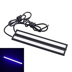 See Waterproof 6W 220lm 6000K 60-COB LED Ice Blue Light Car Daytime Running Light Strip Bar - White (12V / 14cm) Details
