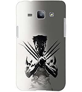 PrintDhaba WOLF MAN D-6587 Back Case Cover for SAMSUNG GALAXY J1 (Multi-Coloured)