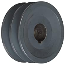"TB Woods 2AK3078 FHP Bored-To-Size, 3.05"" Outside Body Diameter, 0.875"" Bore Diameter V-Belt Sheave"