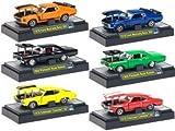 M2 マッスルカーs Set of 6 Vehicles 1/64 Release 3 ミニカー ダイキャスト 車 自動車 ミニチュア 模型 (並行輸入)