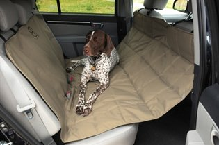 Auto Backseat Hammock Pet Animal Car Seat Cover ProtectorPadded For Ultimate Comfort Size 52W X 72L Safe Leather Feature