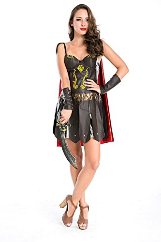 Ylina Cosplay Game Costumes Halloween Dress Role Playing of the Greek Female Warrior