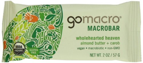 MACROBARS Organic Almond Butter with Carob, 2 oz Bars (Pack of 15) by GO MACRO
