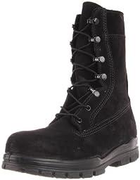 Bates Women\'s 9 Inches Suede Durashocks Steel Toe Boot,Black,10 W US