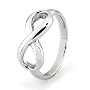 Sterling Silver Infinity Ring - Available Size: 4, 4.5, 5, 5.5, 6, 6.5, 7, 7.5, 8, 8.5, 9