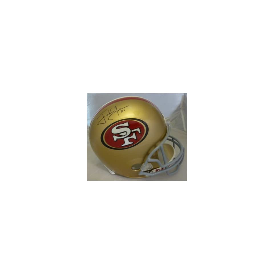 Frank Gore Autographed San Francisco 49ers Full Size Deluxe Replica