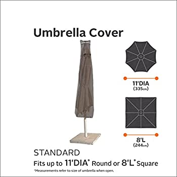 Classic Accessories Ravenna Patio Umbrella Cover - Premium Outdoor Furniture Cover with Durable and Water Resistant Fabric (55-159-015101-EC)