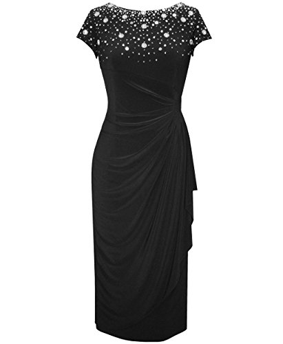 Plus Size Alex Evenings 435808 Black Dress