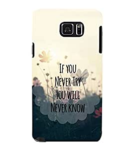 printtech Cool Quotes Life Back Case Cover for Samsung Galaxy Note 5 N920