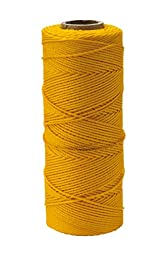 Mutual Industries 14661-41-550 Nylon Mason Twine, 1/2 lb. Twisted, 18 x 550\', Yellow (Pack of 6)