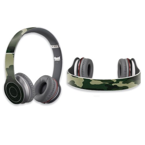 Mightyskins Protective Vinyl Skin Decal Cover For Dr. Dre Beats Solo Hd Headphones Sticker Skins Green Camo