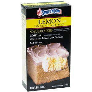 DIABETIC SUGER FREE CAKE MIX LEMON 8 OZ