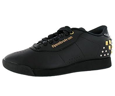 Reebok Women's Princess AK Alicia Keys Sneaker, V46159, Black/Brass/White/Silver