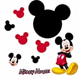 Roommates Mickey Chalkboard Peel And Stick Wall Decal, Multi Color