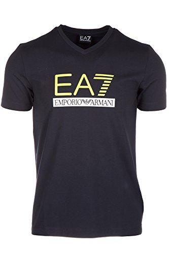 Emporio Armani EA7 t-shirt maglia maniche corte collo a v uomo blu EU M (UK 38) 6XPTD3 PJ20Z 1578