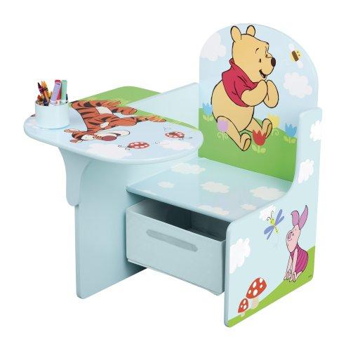 Winnie the Pooh Tisch-Stuhl Kombination mit Staufach (Blau)