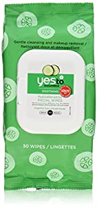 Yes To Cucumber Hypoallergenic Facial Towelettes, 30 Count (Pack of 2)