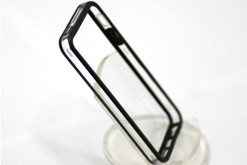 Kobwa(Tm) Bumper Case For Apple Iphone 5, 5G (At&T, Verizon, Sprint, International) - (Black & Clear)