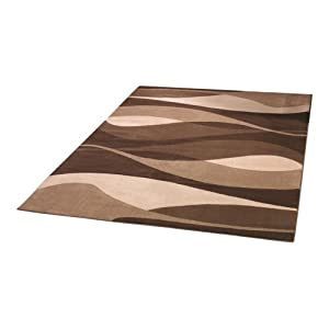 3 Sizes Available - Sincerity Modern - Contour Brown - Good Quality Rug by Flair Rugs
