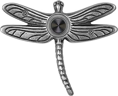 Waterwood WW019PW Solid Brass Summer Dragonfly Doorbell, Pewter