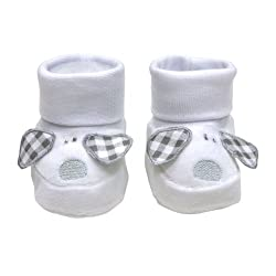 Cambrass Unisex Baby Pull On Shoe, Cuff Top, with Flappy Ears and Dog Face