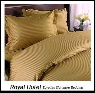 Royal Hotel'S Striped Bronze 600-Thread-Count 4Pc California-King Bed Sheet Set 100-Percent Egyptian Cotton, Sateen Striped, Deep Pocket front-1017135