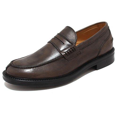 4311P mocassino uomo ANTICA CUOIERIA BUTTERO grigio scarpa shoe men [43]