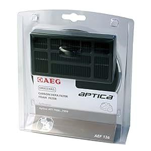 AEG AEF136 Hepafilter-Set , 1 Hepafilter , 1 Motorfilter, für AEG Aptica,ATT 79, Vampyr T10