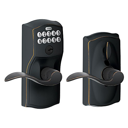 Schlage FE595VCAM716ACC Camelot Keypad Accent Lever Door Lock, Aged Bronze (Outside Door Handle House compare prices)