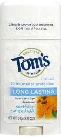 Tom's of Maine 24 hour Long Lasting Deodorant Stick, Calendu