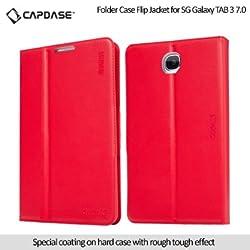 Capdase Folder Case Flip Jacket For Samsung Galaxy Tab-3 7 Inch Red