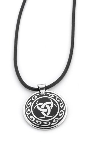 DOOSTI Talisman Pendant with Leather Necklet, ø 3,5cm