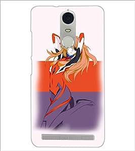 PrintDhaba Stylish Girl D-3840 Back Case Cover for LENOVO K5 NOTE (Multi-Coloured)