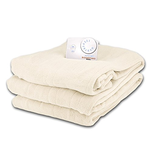 Soft Microplush Twin Size Electric Heated Blanket by Biddeford (Egg Shell) (Heated Blanket King White compare prices)