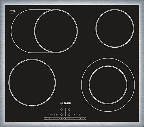Bosch PKN645F17 hobs - Placa (Incorporado, Eléctrico, Vidrio y cerámica, Sensor, Frente, 7500W) Negro