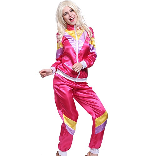 1980s Mens Ladies Shell Suit Shellsuit Scouser Chav Outfit Tracksuit Costume - 2 Sizes