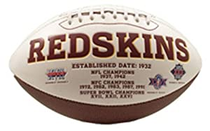 NFL Washington Redskins Signature Series Team Full Size Footballs by Rawlings