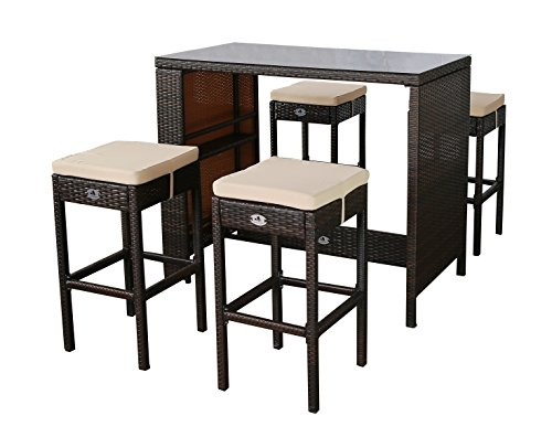 barhocker polyrattan g nstig kaufen. Black Bedroom Furniture Sets. Home Design Ideas