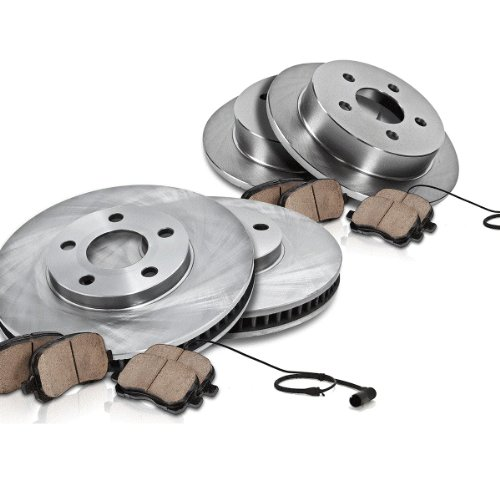 8 Pads for 93-98 Jeep Grand Cherokee Front Rear 4 Drilled Slot Brake Rotors