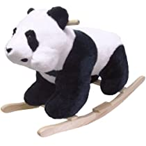 Happy Trails Panda Plush Rocking Animal