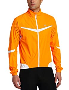 Pearl Izumi Men's Elite Barrier Jacket, Safety Orange/White, Small