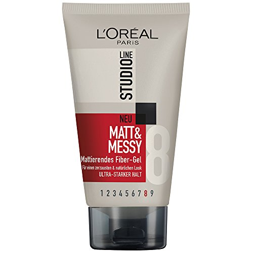L'Oréal Paris, Gel fibroso effetto opaco Studio Line Matt & Messy, 6 pz. da 150 ml
