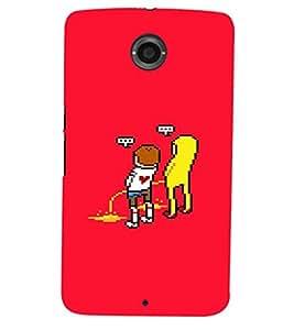 PRINTSHOPPII FUNNY CARTOON Back Case Cover for Motorola Google Nexus 6::Google Nexus 6