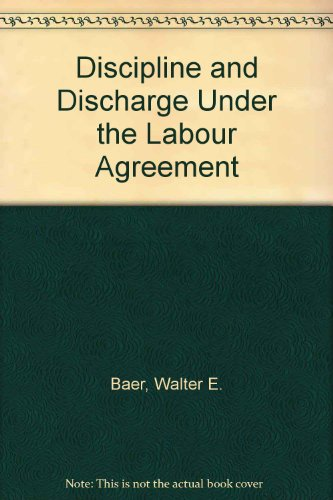 disciple and discharge Progressive discipline is a tool appointing authorities use to maintain a safe and productive working environment for all employees  an agency may discharge,.