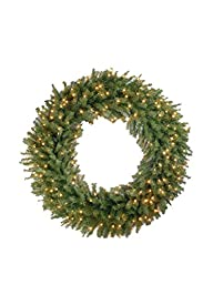 National Tree Norwood Fir Wreath with…