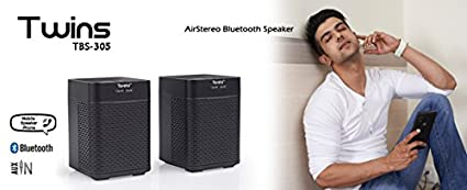 Aptron Toreto Twins - Bluetooth with Air Stereo Pairing JPG-TBS-305 Wireless Speaker