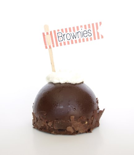 """""""Brownies"""" Dessert Pick, Coral (Set Of 12) - Stick In Items At A Fundraiser, Bake Sale, Barbeque, Or Dinner Party front-82331"""